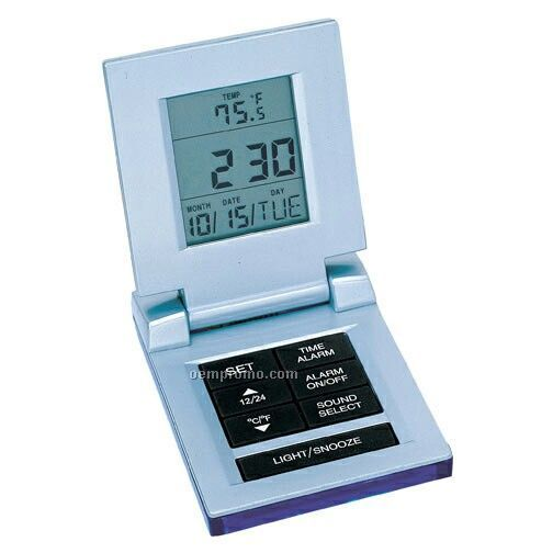 Digital Travel Alarm Clock With Temperature