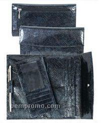 Lavender Soft Lamb Leather Wallet Clutch