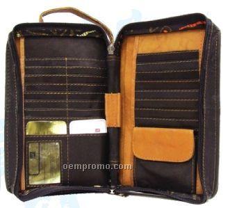 Medium Brown Cowhide Unisex Cell Phone Bag