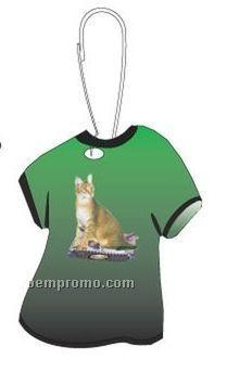 Chausie Cat T-shirt Zipper Pull