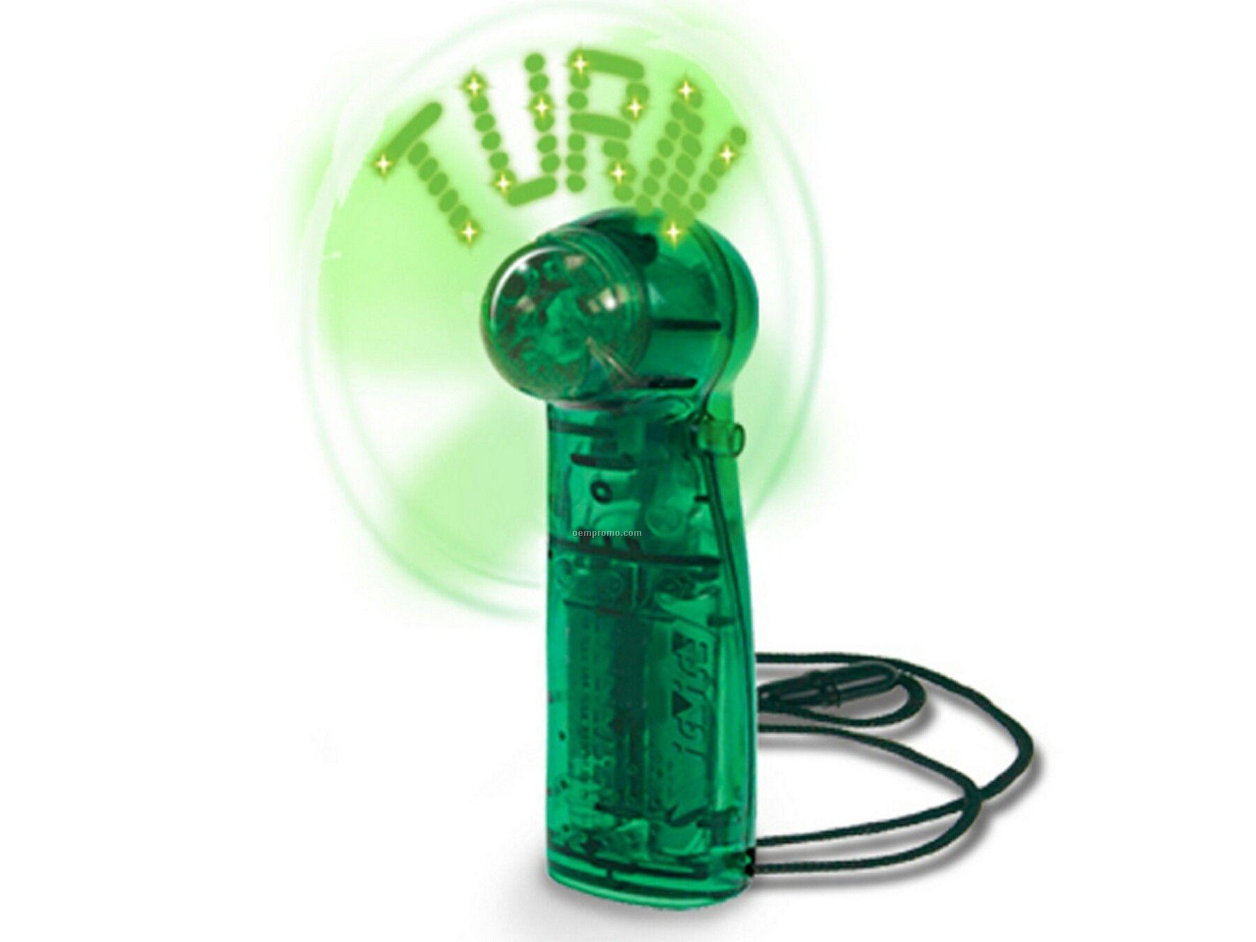 Green Quick Turn Magic Message Fan