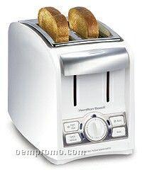 Hamilton Beach 2 Slice, Cool Touch, 4 Function Toaster, White & Chrome