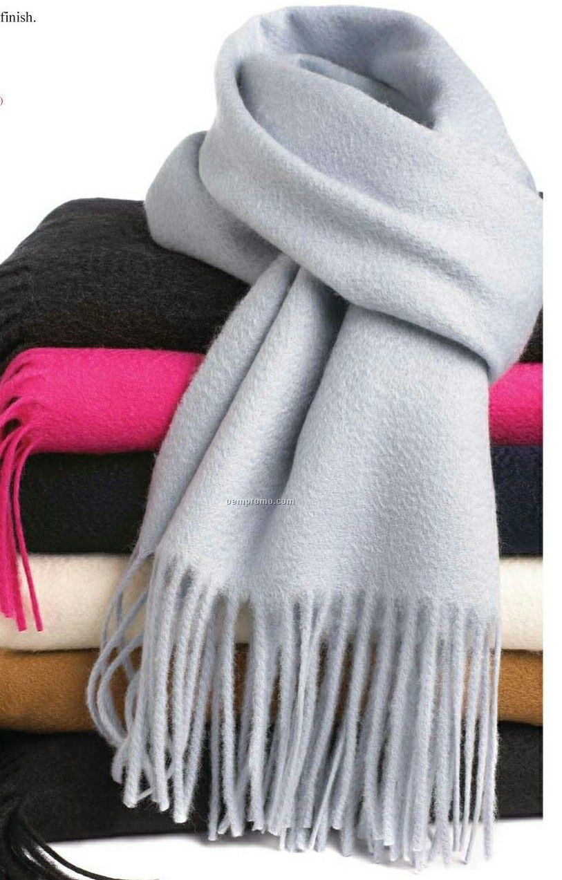 Wolfmark Charcoal Gray Cashmere Muffler Scarf