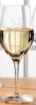 13 1/2 Oz. Europa White Wine Glass (Set Of 2 - Deep Etch)