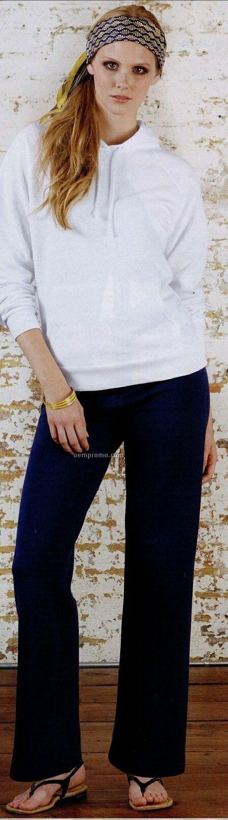 Bella Fleece Straight Leg Sweatpants White