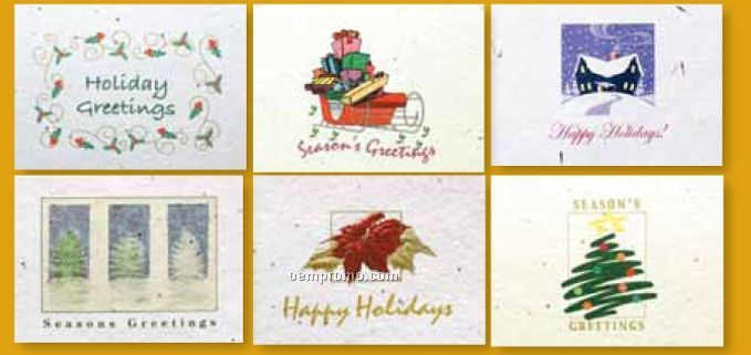 Floral Seed Paper Holiday Six Pack Cards - Christmas Six Pack