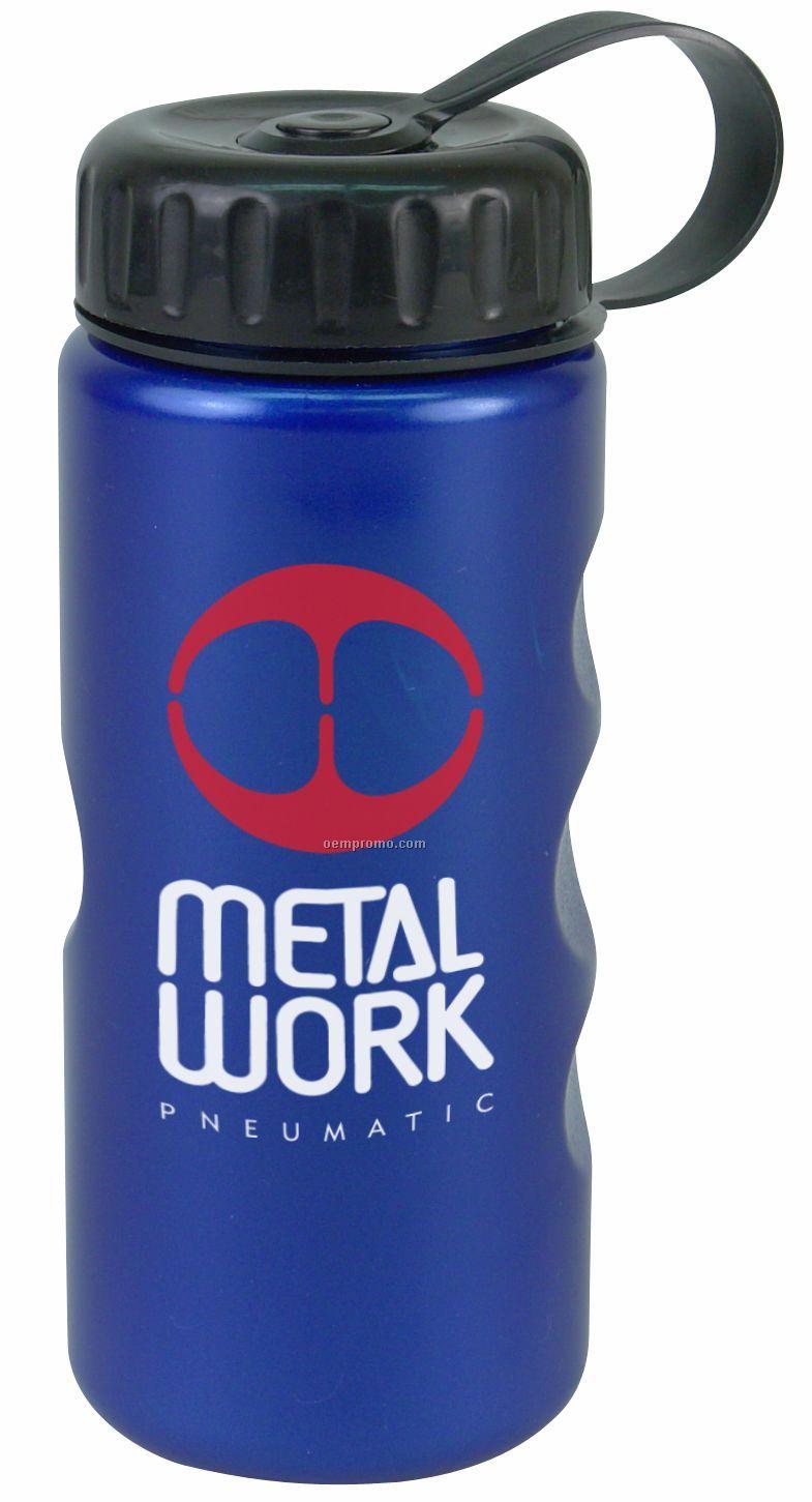 22 Oz. Metallic Bottle W/ Tethered Lid