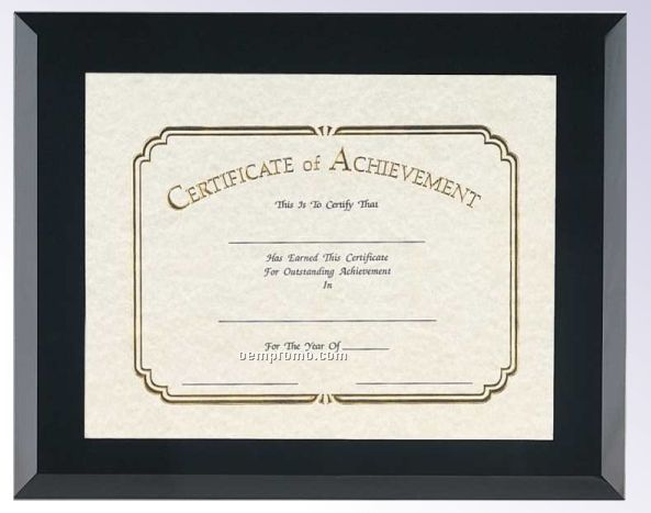 "Black Glass Certificate Frame (11""X14"")"