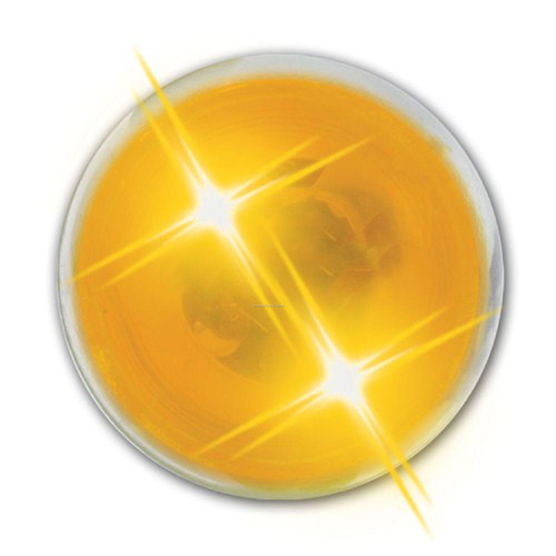 Lightup Bouncing Buzball - Yellow Ball With Yellow Leds (Inside Imprint)