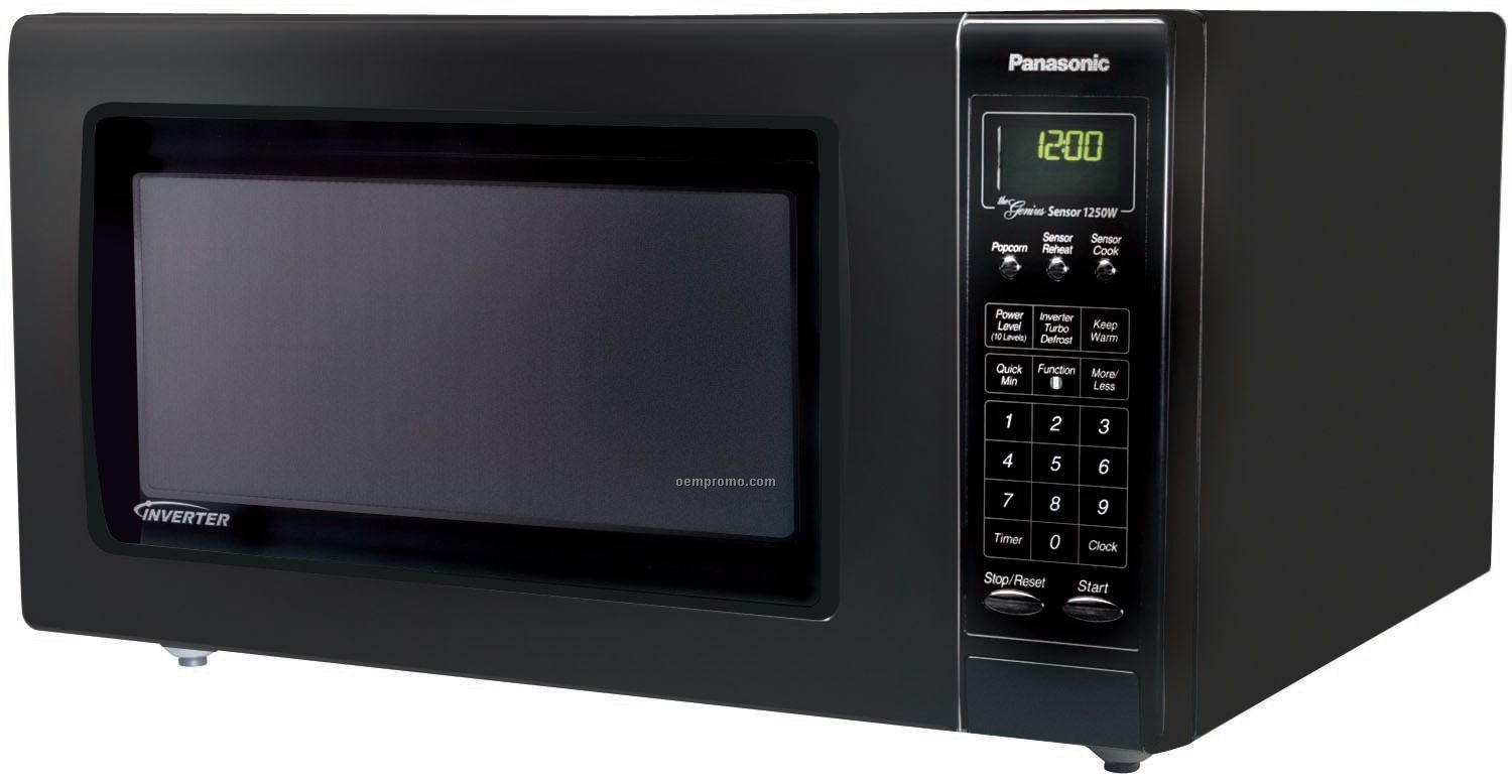 Panasonic Full Size Genius Inverter Microwave Black
