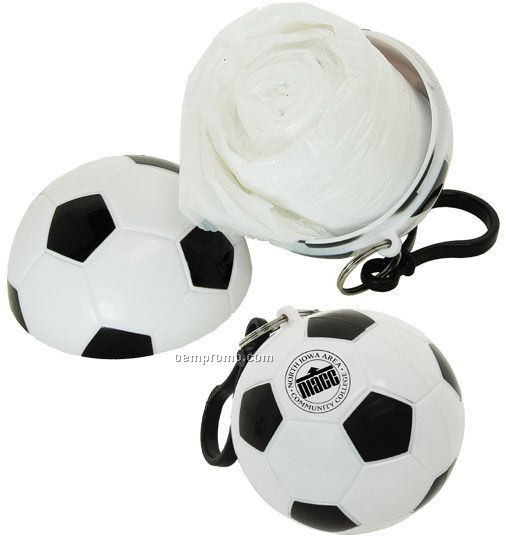 Soccer Ball Poncho With Spring Clip