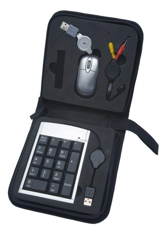 Gigue Tech Set W/ Numeric Keypad & Computer Mouse