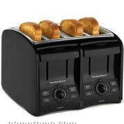 Hamilton Beach 4 Slice, Cool Touch, 4 Function Toaster, Black