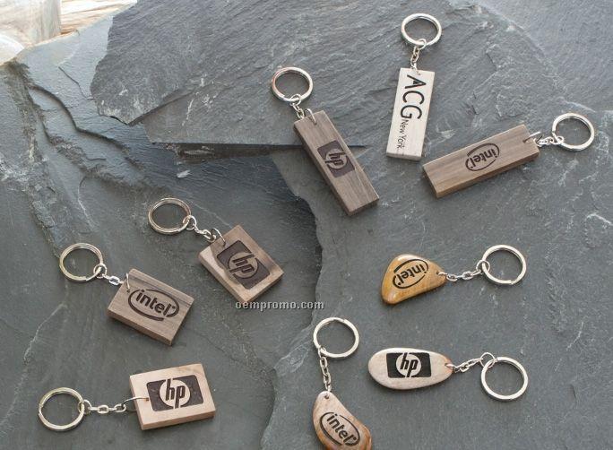 Petrified Wood Key Chain