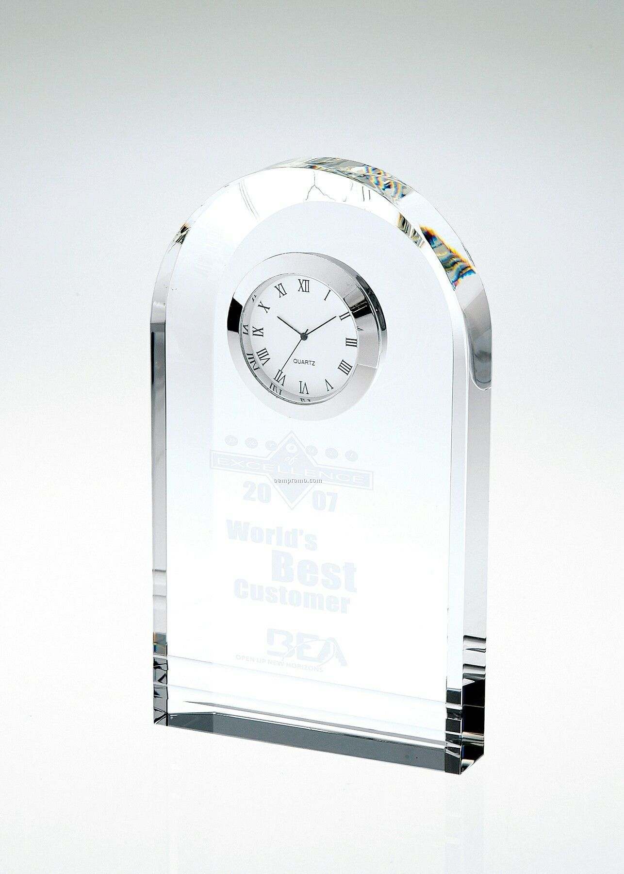 Royal Arch Crystal Clock Award