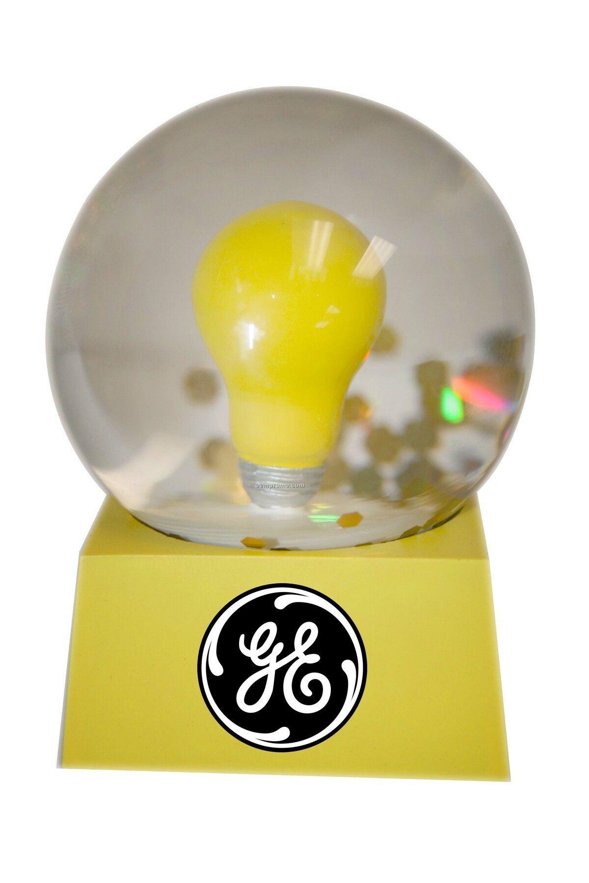 Stock Light Bulb Snow Globe