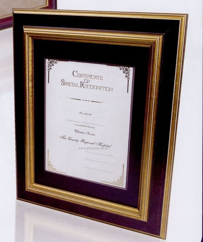 11 Quot X14 Quot Dark Walnut Hardwood Certificate Frame W Antique