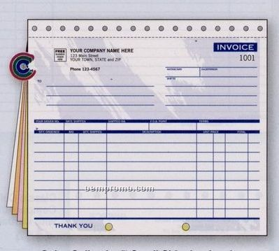 Color Collection Small Shipping Invoice (2 Part)