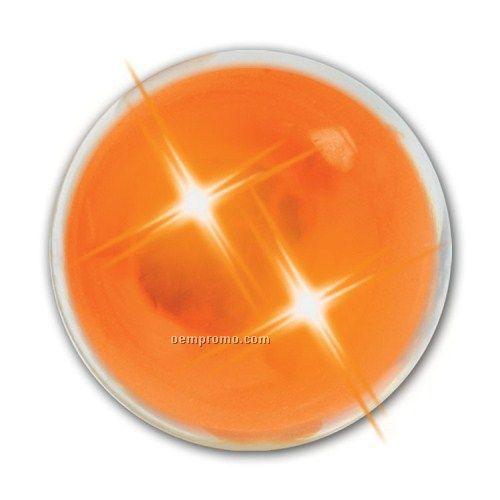 Lightup Bouncing Buzball - Orange Ball With Orange Leds (Inside Imprint)