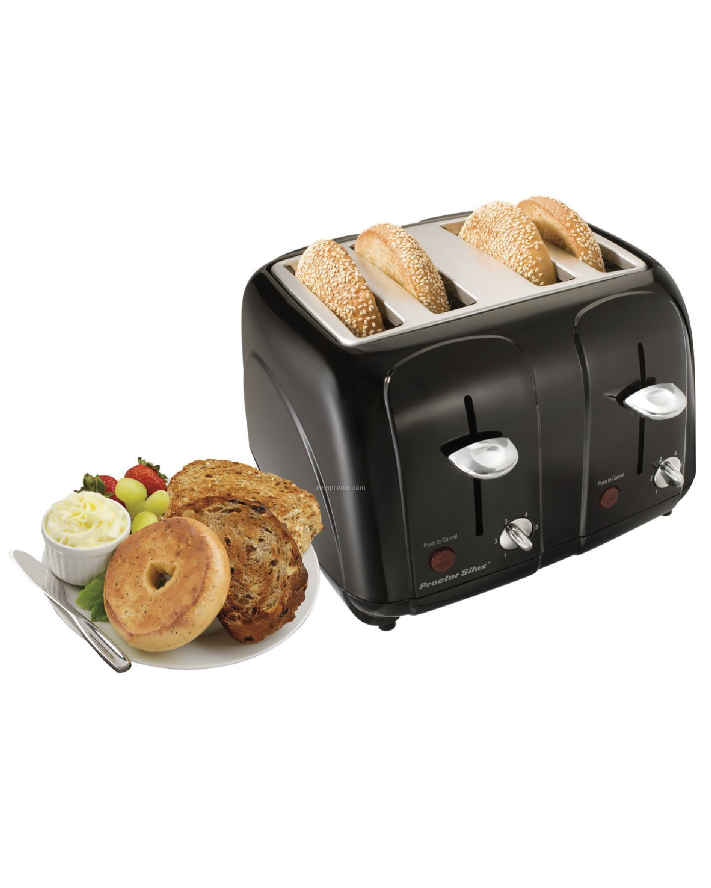 Proctor Silex - Toasters - Blk 4 Slice Cool Touch Toaster