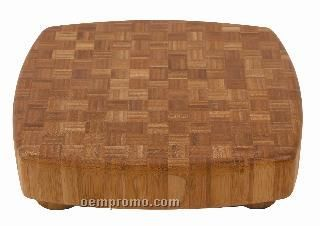 Square Bamboo Butcher Block Cutting Board With 4 Legs
