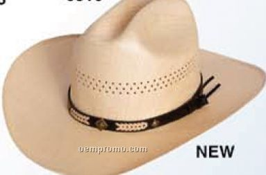 U Shape It Western Straw Hat W / Black Ribbon