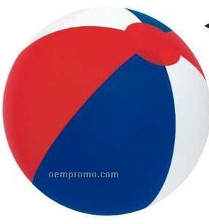 """16"""" Inflatable Alternating Red/White & Blue Beach Ball"""