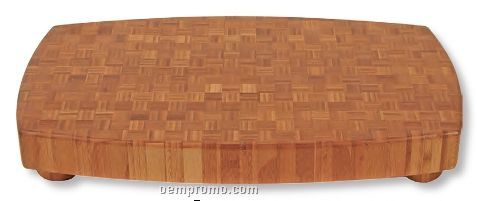 Rectangle Bamboo Butcher Block Cutting Board With 4 Legs