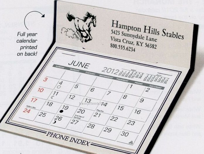 The Valoy Warwick Premier Desk Calendar (January - April)