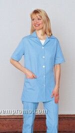 Women's Short Sleeve Tunic Top - Light Blue