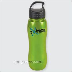 25 Oz. Slim Grip Metalike Bottle W/Crest Loop Lid
