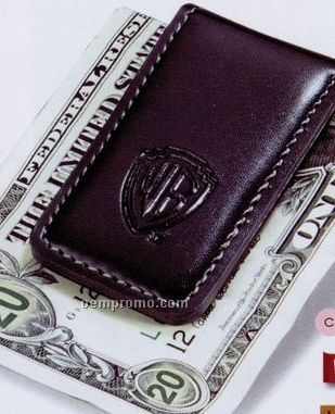 Concord Leather Magnetic Money Clip (Black)