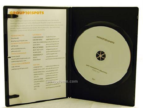 DVD Replication Retail In Black Slim Amaray Case, 2-panel 4/1 Insert(DVD 9)