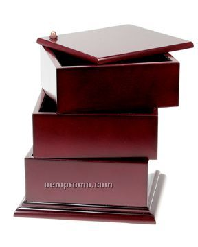 Desktop Organizer With Three-tier Swing Boxes