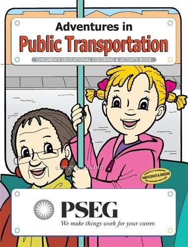 Fun Pack Coloring Book W/ Crayons - Adventures In Public Transportation