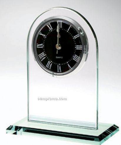 Jade Glass Arch Clock Award
