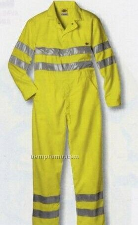 Class 3 Long Sleeve Coverall W/ Scotchlite Reflective Tape