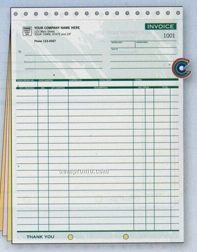 Classic Collection Large Shipping Invoice (2 Part)