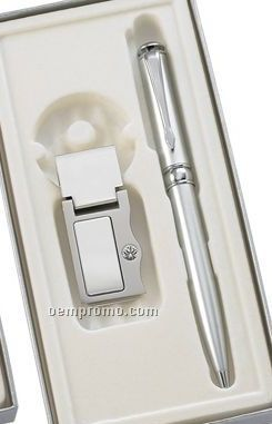 Pen With Money Clip Gift Set