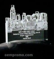 Acrylic Paperweight Up To 16 Square Inches / New York City