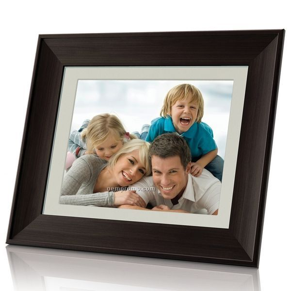 10.4 Digital Photo Frame With Mp3 Player - Wooden Frame