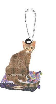 Egyptian Mau Cat Zipper Pull