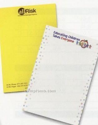 "Scratch Pads - 25 Sheet - 1 Color (4""X6"")"
