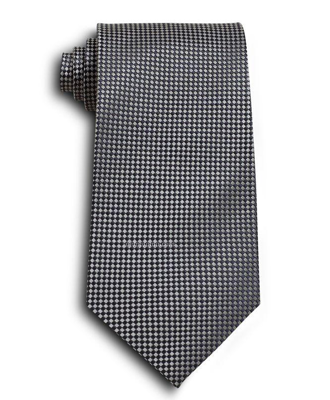 Wolfmark Carlton Silk Tie - Gray