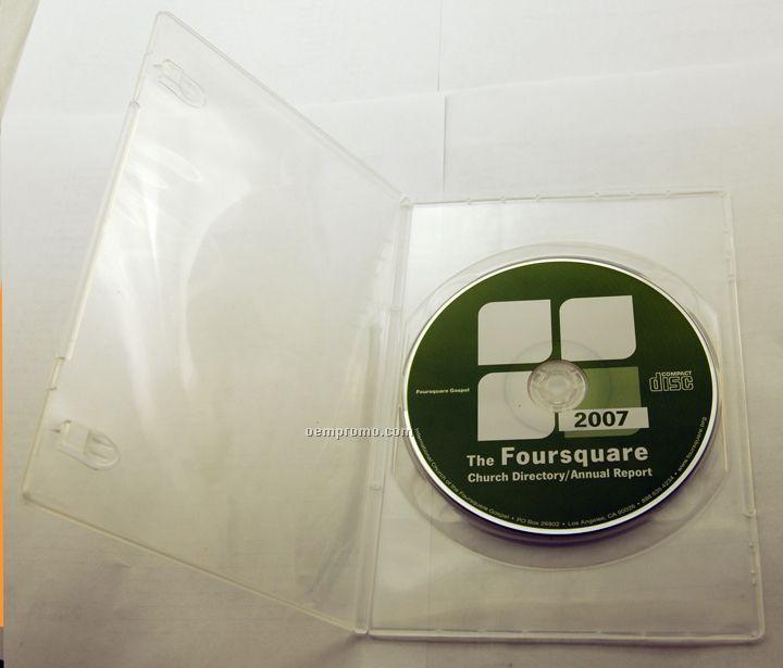 DVD Replication In Clear Slim Amaray Case (DVD 9)