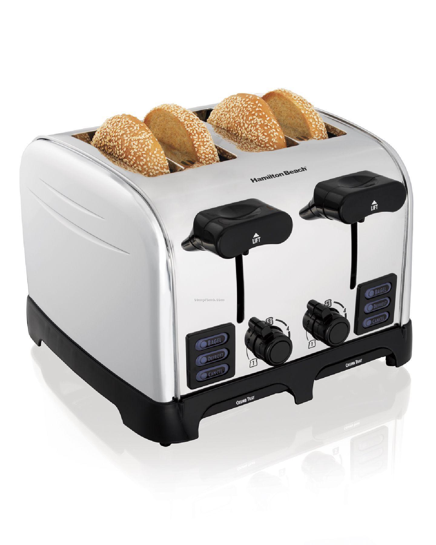 Hamilton Beach - Toasters - 4 Slice - Chrome