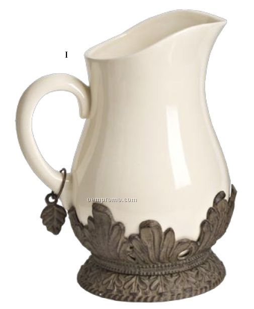 The Gg Collection Pitcher W/ Metal Base
