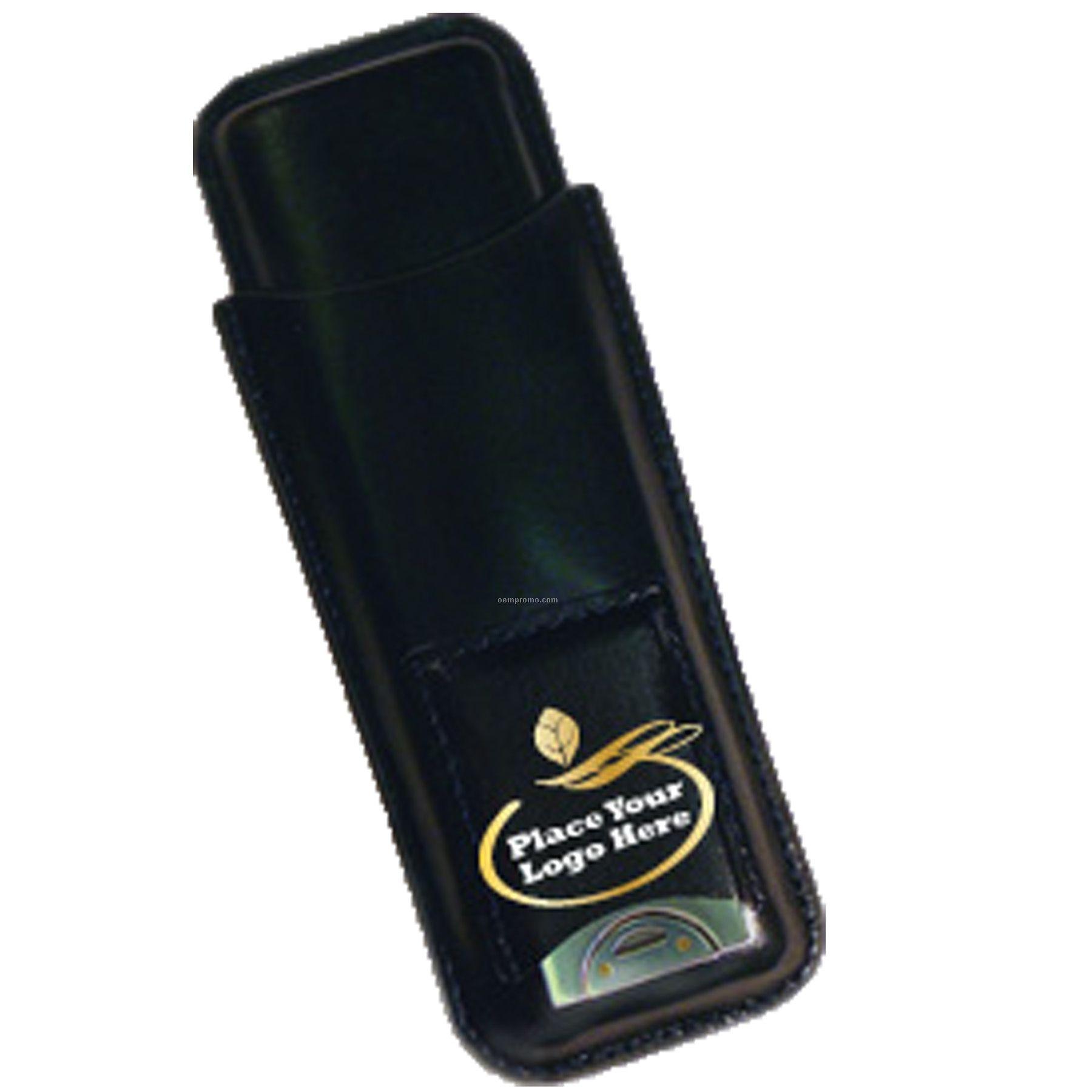 2 Cigar Leather Case