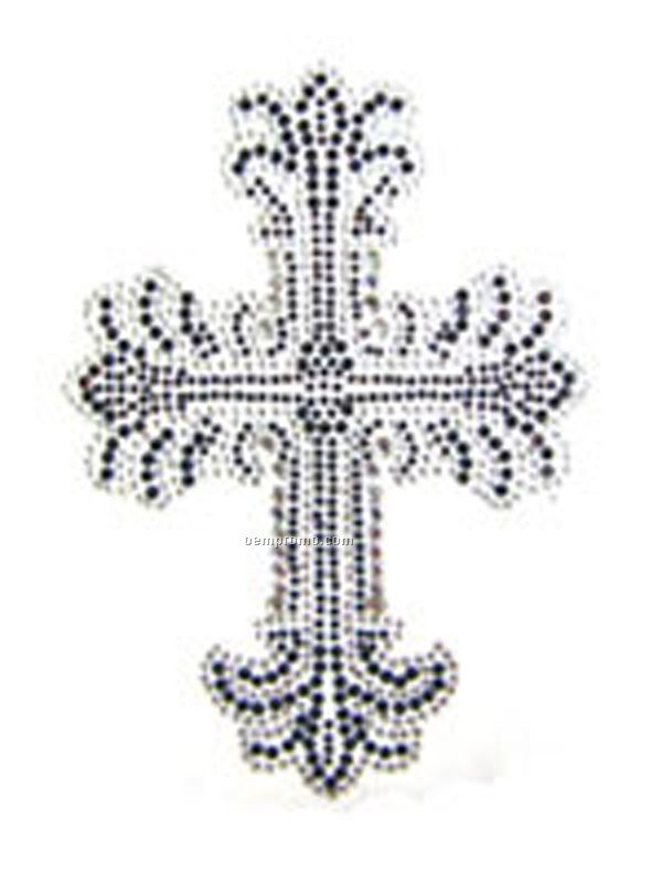 Rhinestone Cross Transfer - 120