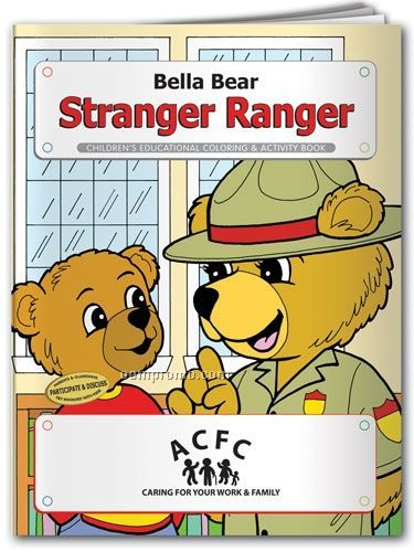 Action Pack Coloring Book W/ Crayons & Sleeve - Bella Bear Stranger Ranger